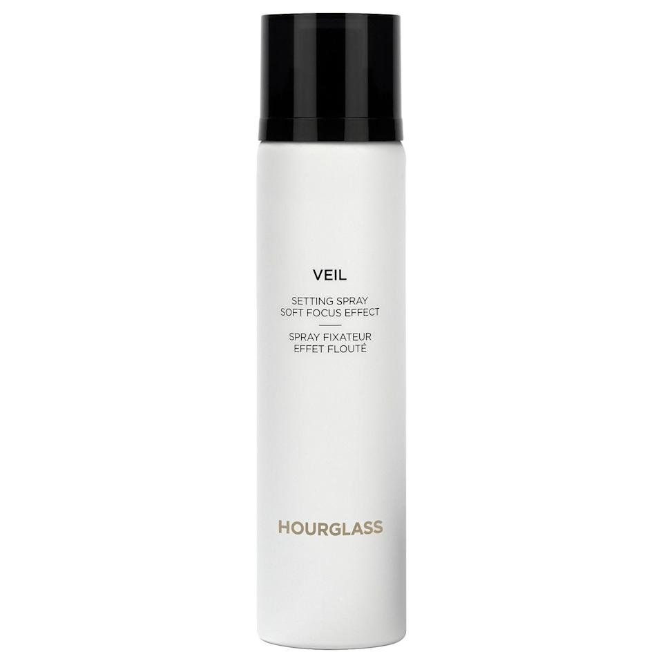 """<p>Several online reviewers have praised the <span>Hourglass Veil Setting Spray</span> ($48) for its application, as it sprays like a """"super fine mist"""" that doesn't make you feel like you're spraying everything but your face when you use it. It also hydrates the skin and provides a 24-hour finish that your long days and all-nighters are no match for.</p>"""