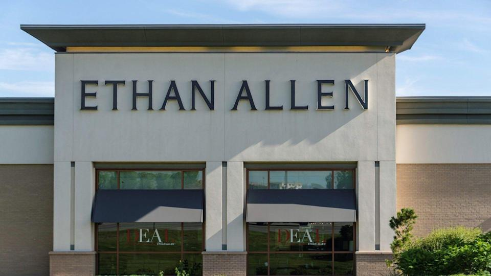 The Ethan Allen Furniture Store in Johnstown, Colorado.