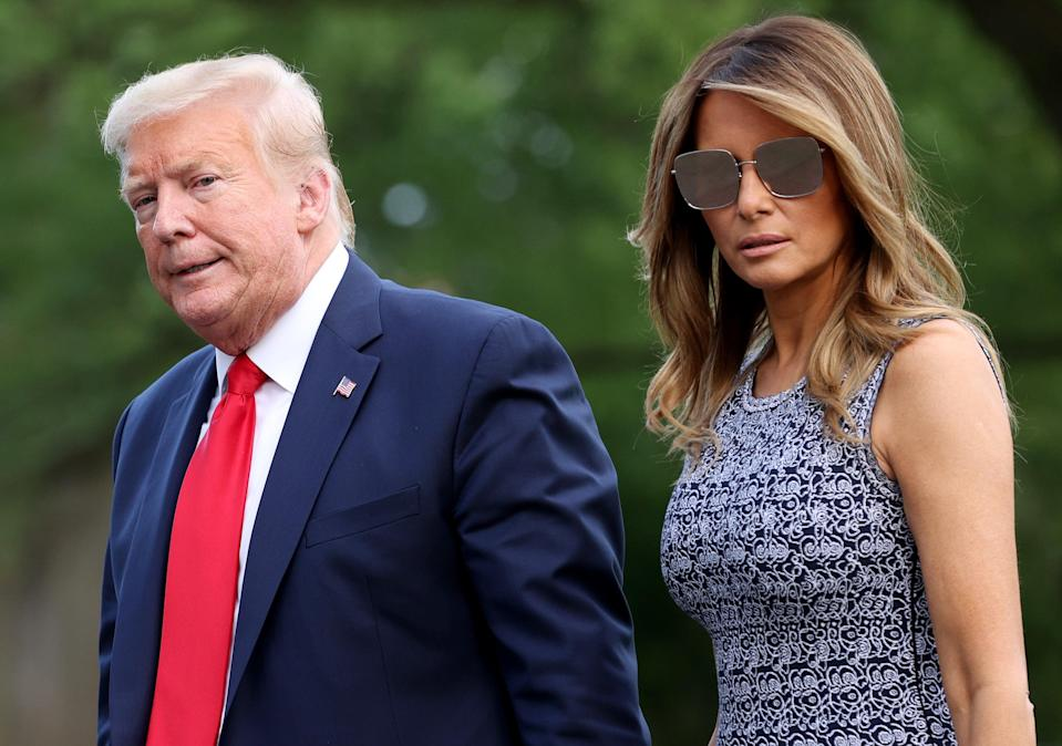 <p>Donald and Melania Trump got Covid shot before leaving White House</p> (Photo by Win McNamee/Getty Images)