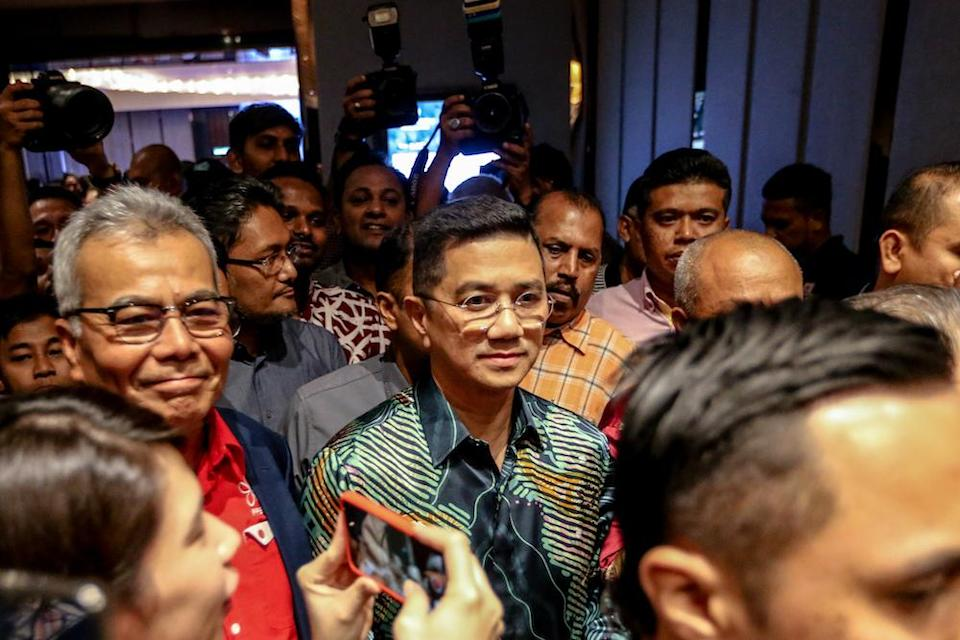 Datuk Seri Azmin Ali is pictured at Sheraton Hotel February 23, 2020. — Picture by Firdaus Latif