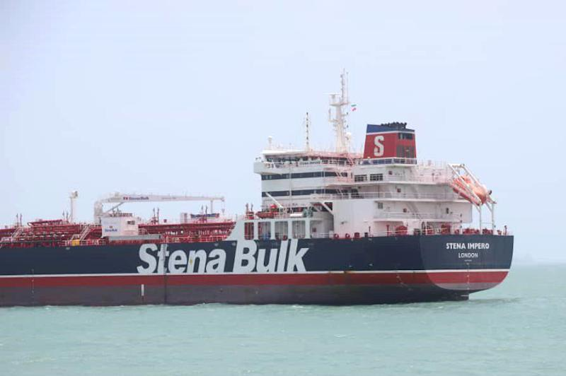 "(Bloomberg) -- The U.K. sought to lower tensions after Iran seized a British oil tanker in the Strait of Hormuz on Friday, an incident that increased friction in one of the world's critical energy chokepoints.The U.K. demanded the immediate release of the Stena Impero and on Saturday summoned Iran's charge d'affaires, Mohsen Omidzamani, in London. While the government threatened Iran with ""serious consequences"" and advised U.K. ships to avoid the area, ministers on Sunday sought to dial down the rhetoric.""We need to try and de-escalate this,"" Defense Minister Tobias Ellwood said in a Sky News interview. ""Our first and most important responsibility is to make sure that we get a solution to the issue to do with the current ship, make sure other British-flagged ships are safe to operate in these waters and then look at the wider picture of actually having a working proper professional relationship with Iran.""On Sunday, the Iranian flag was seen flying over the bridge of the British tanker in the Bandar Abbas port, according to images aired by state-run Press TV.Tensions have been flaring in the Strait of Hormuz in recent weeks as Iran lashes out against U.S. sanctions that are crippling its oil exports and after the seizure of one of its tankers near Gibraltar. The Strait accounts for about a third of the world's seaborne oil flows, and Brent crude rallied as much as 2.4% on Friday's news.The U.K. plans to take further measures this week, Foreign Secretary Jeremy Hunt said in a statement without giving details on what action would be taken. The Sunday Telegraph said diplomatic and economic measures, including a freeze on Iranian assets, are being considered and the U.K. may push the European Union and United Nations to reimpose sanctions on Iran. But on Sunday, Chancellor of the Exchequer Philip Hammond sought to downplay that threat.""We've already got a wide raft of sanctions against Iran, particularly financial sanctions, so it's not clear that there are immediate additional things that we can do but we are of course looking at all the options,"" Hammond said in a BBC interview. Still, ""it was an illegal act and we're going to pursue every possible diplomatic route to resolve this issue.""Iran doesn't have any assets that the British government could seize, according to Ali Naghi Seyyed-Khamoushi, head of the Iran-Britain Joint Chamber of Commerce in Tehran. Any sanctions would not affect Iran's exports and imports to any great extent, he said, according Iran's Tasnim news agency.With U.K. Prime Minister Theresa May set to leave office on Wednesday, the latest clash with Iran presents a diplomatic headache for her successor. The favorite to be named the new Conservative Party leader is Boris Johnson, and his opponent, Foreign Secretary Jeremy Hunt, on Saturday tweeted that that British shipping will be protected in the Persian Gulf.U.S. Central Command has announced a ""multinational maritime effort"" called Operation Sentinel to ""increase surveillance of and security in key waterways in the Middle East to ensure freedom of navigation in light of recent events in the Arabian Gulf region.""Tensions between Iran and the West have been rising since U.S. President Donald Trump pulled out of the 2015 multi-nation agreement with Iran to limit its nuclear program. The U.S. reimposed the sanctions that had hobbled the Iranian economy and has been pressuring European allies to respect the sanctions and curtail their trade with Iran.Iran's Revolutionary Guards said on Saturday that the ship entered the strait from the wrong direction, wasn't paying heed to maritime regulations and could potentially have collided with other vessels. State television said the ship will be held until judicial assessments are complete.Stena Bulk, the ship's owner, said on Sunday that a request to the authorities at the port of Bandar Abbas -- where the vessel is anchored -- to visit the 23 crew members had been acknowledged. The company hasn't yet received a formal response.The firm said on Saturday it had been told that the crew members are in good health. It has been given no instructions about the fate of the ship.Iran has also suggested its actions are in retaliation for the British seizure of the Grace 1 tanker off Gibraltar. A court in Gibraltar ordered the continued detention of the vessel for another 30 days, after it was held on suspicion of taking oil to Syria. Iran denies that was the destination.In recent weeks the U.K. Navy has escorted some tankers out of the region, while the U.S. said it downed an Iranian drone just days ago. The latest incident cooled hopes that the U.S. and Iran would soothe tensions by entering into negotiations.In Washington, Trump said he will be ""working with the U.K."" and suggested the latest developments justify his harsher approach toward Tehran. ""This only goes to show what I'm saying about Iran: trouble, nothing but trouble.""(Updates with Iranian flag flying over tanker in Iran in fourth paragraph.)\--With assistance from Arsalan Shahla, Tim Ross and Bill Lehane.To contact the reporters on this story: Alex Morales in London at amorales2@bloomberg.net;Alex Longley in London at alongley@bloomberg.net;Golnar Motevalli in Tehran at gmotevalli@bloomberg.netTo contact the editors responsible for this story: Tim Ross at tross54@bloomberg.net, Lars Paulsson, James AmottFor more articles like this, please visit us at bloomberg.com©2019 Bloomberg L.P."