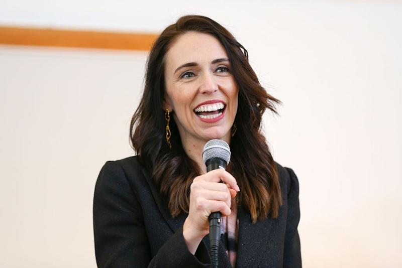 Prime Minister Jacinda Ardern speaks during a community meeting with COVID-19 community responders at Wainuiomata's Memorial Hall on July 30, 2020 in Wellington, New Zealand.