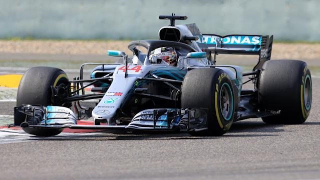Formula One F1 - Chinese Grand Prix - Shanghai International Circuit, Shanghai, China - April 15, 2018 Mercedes' Lewis Hamilton in action during the race REUTERS/Aly Song