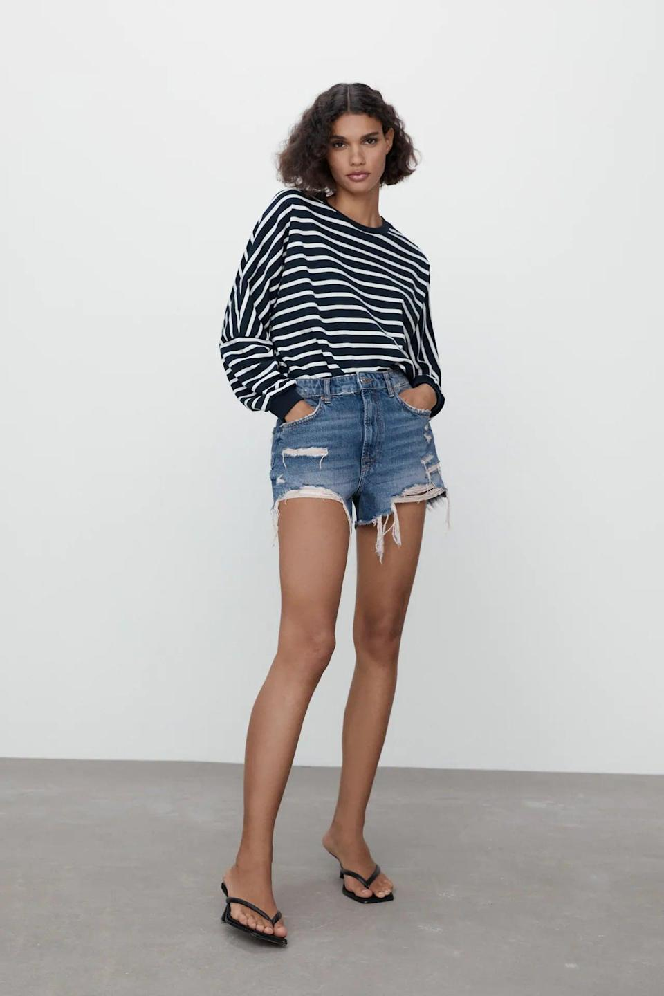 <p>Cutoffs are always a good idea, and you'll wear these <span>Zara ZW The High Waist Shorts</span> ($40) over and over again.</p>