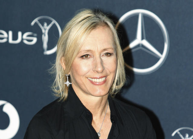 Martina Navratilova deleted a tweet that many interpreted as transphobic. (AP Photo)