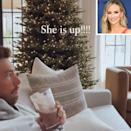 <p>The former <em>Bachelor </em>winner rose (get it) to the occasion by posting a pic of her twinkling tree in front of hubby Chris Lane.</p>
