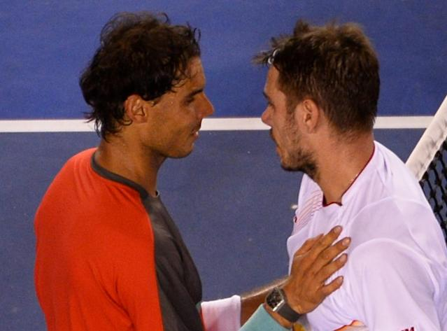 Rafael Nadal faces a potential 2016 Australian Open rematch of his losing final against Swiss fourth seed Stan Wawrinka two years ago, in a quarter-final in the bottom half of the draw (AFP Photo/William West)