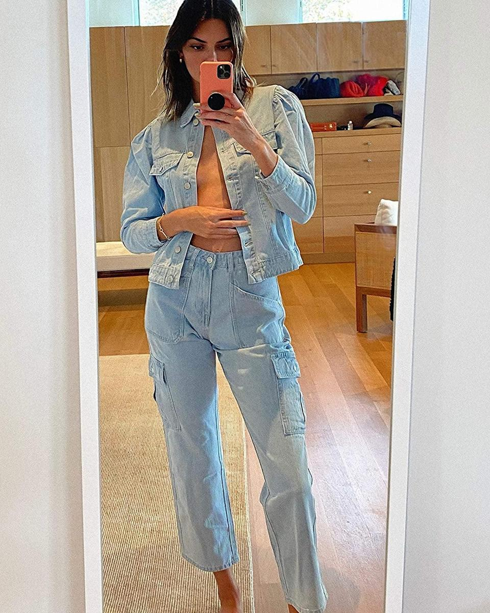 <p>This <span>KENDALL + KYLIE Puff-Sleeve Denim Jacket</span> ($89) goes with everything.</p>