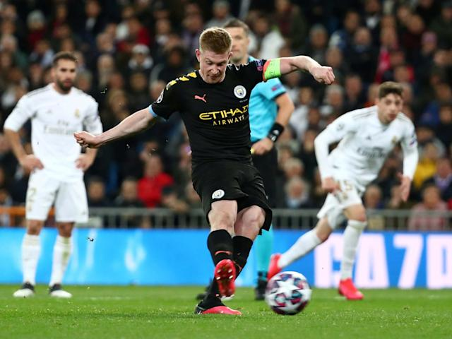 Kevin De Bruyne scores City's winner from the spot: Reuters
