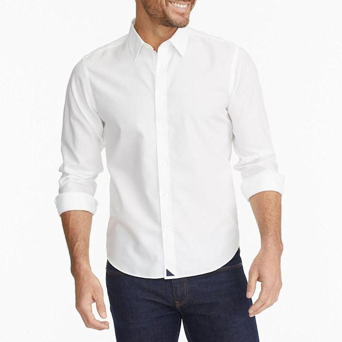 """<p>untuckit.com</p><p><strong>$99.00</strong></p><p><a href=""""https://go.redirectingat.com?id=74968X1596630&url=https%3A%2F%2Fwww.untuckit.com%2Fcollections%2Fwrinkle-free%2Fproducts%2Flas-cases-wrinkle-free&sref=https%3A%2F%2Fwww.menshealth.com%2Ftechnology-gear%2Fg19521968%2Fcool-gifts-for-dad%2F"""" rel=""""nofollow noopener"""" target=""""_blank"""" data-ylk=""""slk:BUY IT HERE"""" class=""""link rapid-noclick-resp"""">BUY IT HERE</a></p><p>Help dad look cool again with a little help from UNTUCKit this Father's Day. Hitting at the perfect length to let his button hang free, your dad can finally lower the rise of his chinos for a more relaxed, effortlessly cool style flex.</p>"""
