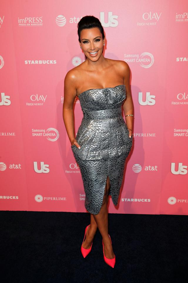 WEST HOLLYWOOD, CA - APRIL 18:  TV personality Kim Kardashian attends the Us Weekly Hot Hollywood Style Event at Greystone Manor Supperclub on April 18, 2012 in West Hollywood, California.  (Photo by Imeh Akpanudosen/Getty Images)