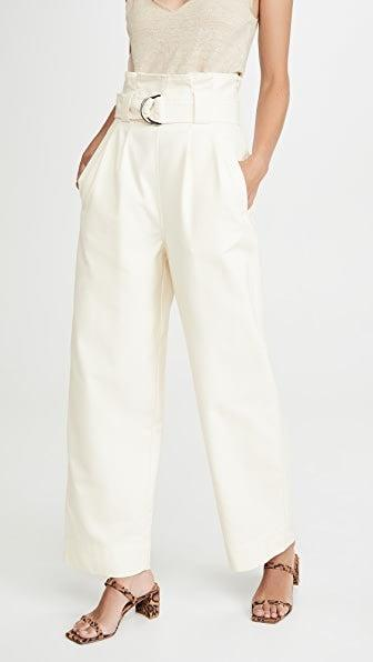 """<br> <br> <strong>Ganni</strong> Chino Trousers, $, available at <a href=""""https://go.skimresources.com/?id=30283X879131&url=https%3A%2F%2Fwww.shopbop.com%2Fchino-trousers-ganni%2Fvp%2Fv%3D1%2F1552550028.htm"""" rel=""""nofollow noopener"""" target=""""_blank"""" data-ylk=""""slk:Shopbop"""" class=""""link rapid-noclick-resp"""">Shopbop</a>"""