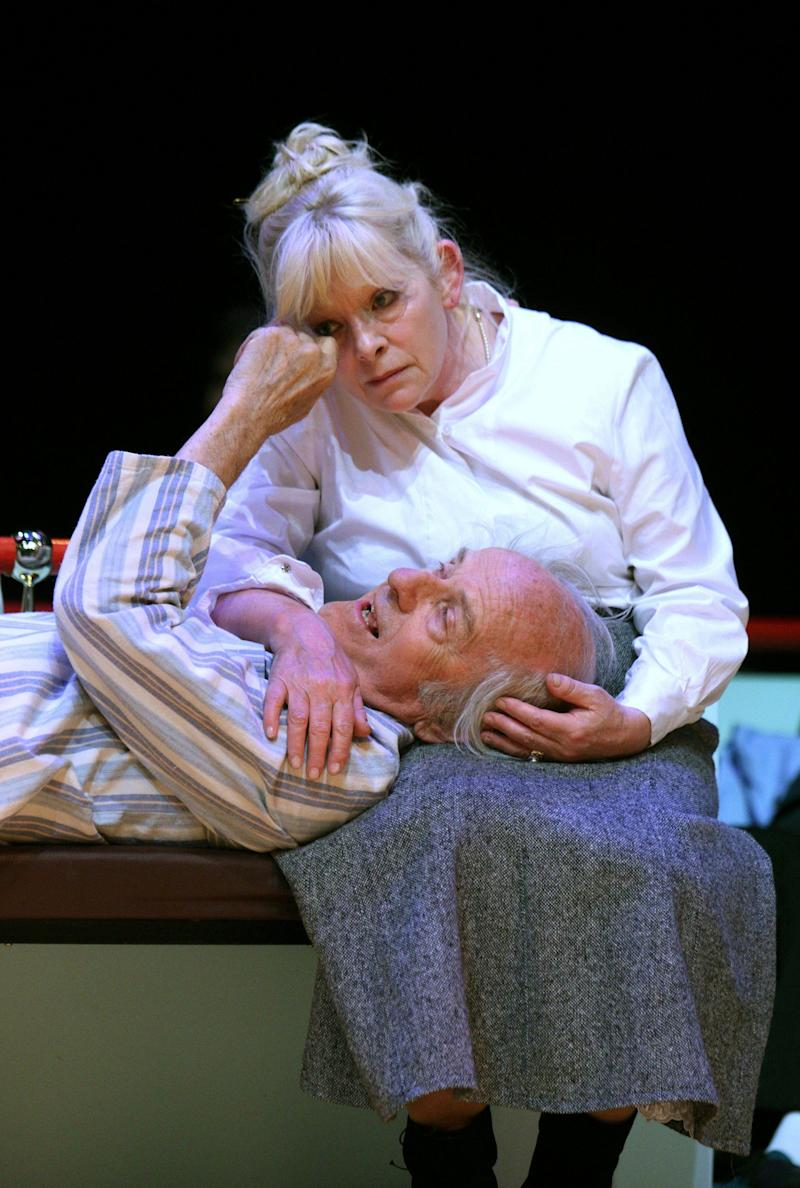 With Anna Calder-Marshall in Love at the Lyric Theatre, Hammersmith, London, 2008 - Alastair Muir/Shutterstock