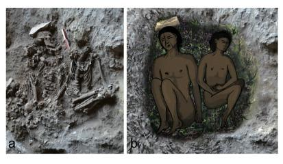 Impressions of ancient flowers were recently unearthed in nearly 14,000-year-old graves in a cave in Israel