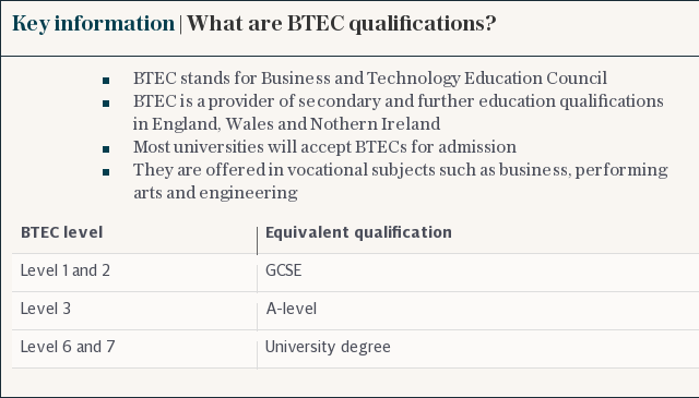 KEY INFORMATION | What are BTEC qualifications?