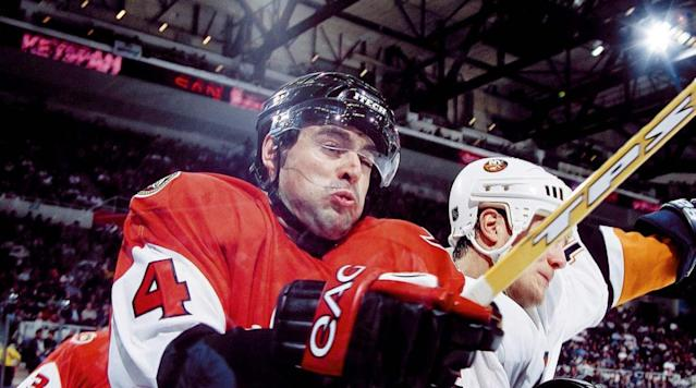 <p>Phillips has been a reliable if unspectacular defensive blueliner for 17 seasons in Ottawa. — Notable picks: No. 2: Andrei Zyuzin, D, San Jose Sharks | No. 24: Danny Briere, C, Arizona Coyotes | No. 56: Zdeno Chara, D, New York Islanders | No. 179: Pavel Kubina, D, Tampa Bay Lightning | No. 204: Tomas Kaberle, D, Toronto Maple Leafs</p>