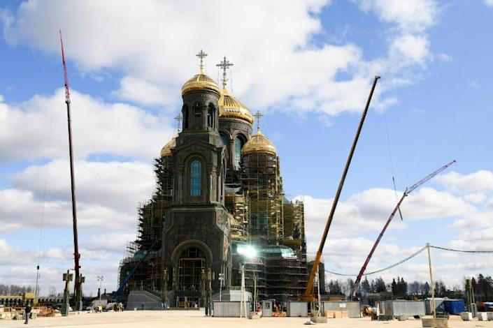 The Cathedral of the Armed Forces marks the Soviet Union's part in the defeat of Nazi Germany as well as more recent conflicts such as Russia's annexing of Crimea (AFP Photo/Andrey RUSOV)