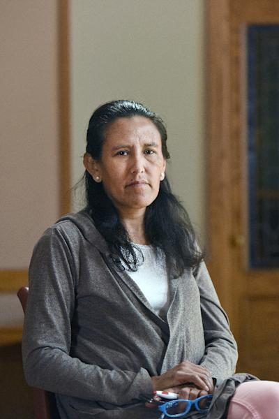 Jeanette Vizguerra worked as a janitor and a union organizer after moving to the US, and is known in the Denver area as an immigration advocate (AFP Photo/Chris Schneider)