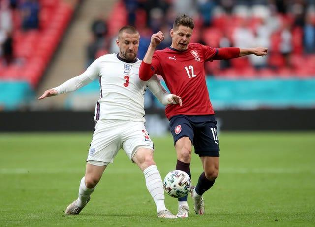 Luke Shaw (left) has got his career back on track with England and Manchester United