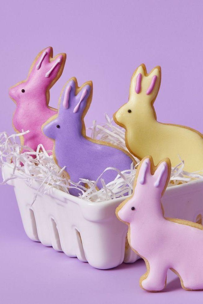 """<p>Prepare the dough in advance and then call the kids over when it's time to decorate and enjoy creating fun family memories while making a delicious Easter treat. </p><p><a href=""""https://www.womansday.com/food-recipes/a31979524/bunny-cookies-recipe/"""" rel=""""nofollow noopener"""" target=""""_blank"""" data-ylk=""""slk:Get the Bunny Cookies recipe."""" class=""""link rapid-noclick-resp""""><strong><em>Get the Bunny Cookies recipe. </em></strong> </a></p>"""