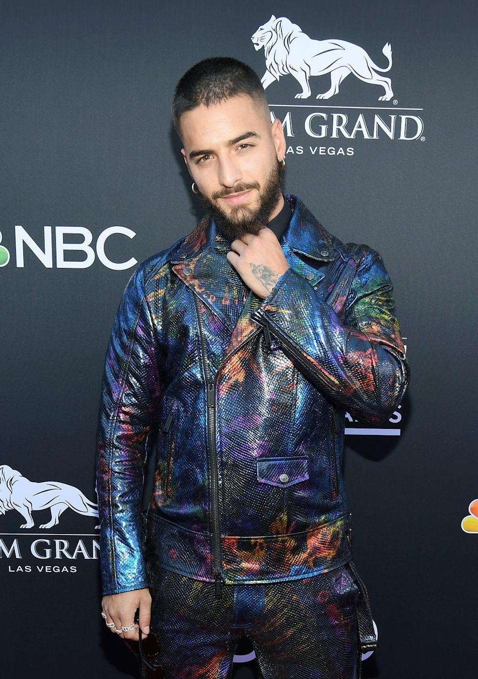 """<p>Maluma didn't bust onto the U.S. Latin Billboard charts until 2014 with """"La Temperatura,"""" but he fought for his stardom. The lead single from his first album, <em>Magia</em>, was called """"Farandulera"""" but didn't make many waves. He's more than made up for that in recent years.</p><p><a class=""""link rapid-noclick-resp"""" href=""""https://www.amazon.com/Farandulera-Album-Version/dp/B016YW7DUC/ref=sr_1_1?tag=syn-yahoo-20&ascsubtag=%5Bartid%7C10063.g.30535280%5Bsrc%7Cyahoo-us"""" rel=""""nofollow noopener"""" target=""""_blank"""" data-ylk=""""slk:BUY NOW"""">BUY NOW</a></p>"""