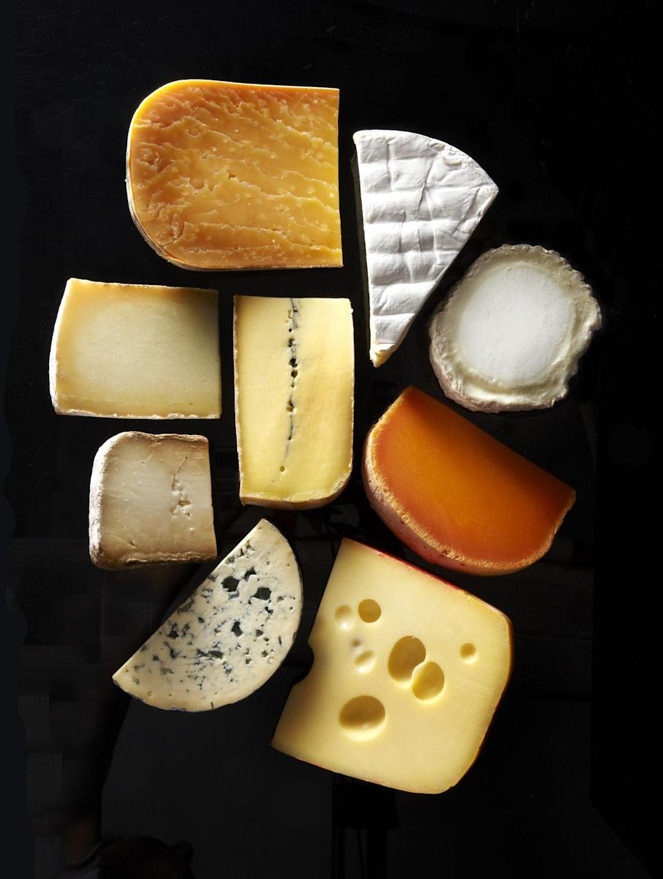 <p>Soft cheeses like ricotta, cream cheese, and goat cheese will separate if they're frozen and then thawed. This will change the texture in weird ways. You could technically try harder varieties like Parmesan or cheddar, though we'd advise you just keep in the fridge instead. </p>