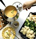 "<p>Complete with a dash of Worcestershire sauce and mustard powder, this fondue dip takes the traditional cheese recipe up a notch. Make this fondue if you're looking for the perfect segue into a meat-heavy dinner - the flavors pair so well together. </p> <p><strong>Get the recipe</strong>: <a href=""https://jamiegeller.com/recipes/cheese-fondue/"" class=""link rapid-noclick-resp"" rel=""nofollow noopener"" target=""_blank"" data-ylk=""slk:three-cheese mustard fondue"">three-cheese mustard fondue</a></p>"