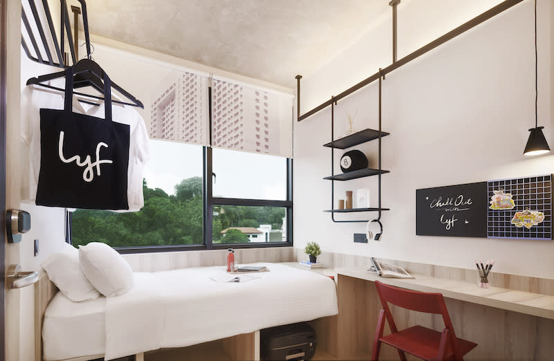 A peek at the room. Photo: lyf Funan Singapore