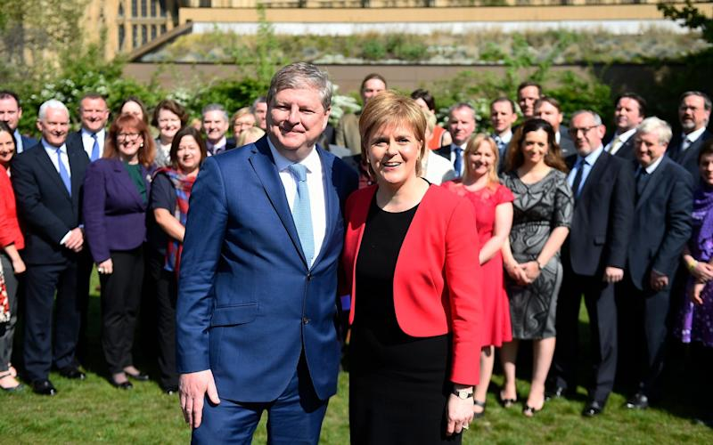 Nicola Sturgeon: 'If the Parliamentary arithmetic lends itself to the SNP being part of a progressive alliance to keep the Tories out of Government then the SNP will seek to be part of that' - Credit: WILL OLIVER/ EPA