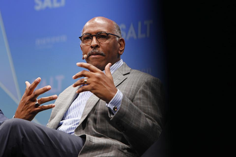 Michael Steele, former chairman of the Republican National Committee (RNC), speaks during the Skybridge Alternatives (SALT) conference in Las Vegas, Nevada, U.S., on Thursday, May 9, 2019. (Joe Buglewicz/Bloomberg via Getty Images)
