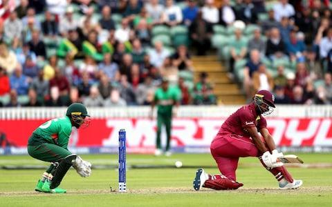 West Indies' Evin Lewis during the ICC Cricket World Cup group stage match at The Taunton County Ground, Taunton - Credit: David Davies/PA