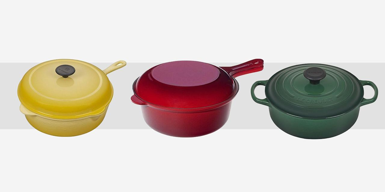 """<p>If there was a single figure in pop culture, Martha Stewart aside, who has given us <a href=""""https://www.townandcountrymag.com/leisure/dining/g23937264/gourmet-food-gifts/"""" target=""""_blank"""">major kitchen envy </a>more than Nancy Meyers? Every on of her films has given us oodles of inspiration for gathering spaces and late night baking sessions. And what better to fill those immaculate open concept fantasies than the cooking tools that fit the surroundings. </p><p>Case in point: Le Creuset <a href=""""https://www.townandcountrymag.com/leisure/dining/g29576420/cooking-gifts/"""" target=""""_blank"""">cast iron pots and pans</a>. The creme de la creme in French cookware holds the reputation it does for a reason—and it is worth a pretty penny. So when it goes on sale (a rare occurrence) it's  best to take advantage. Happening now is the Le Creuset factory to table sale, which is running until August 23, and offering up to 70 percent off their bestsellers. Here, we picked our must-haves to shop, from a classic oval dutch oven to a vibrant yellow covered skillet.</p>"""