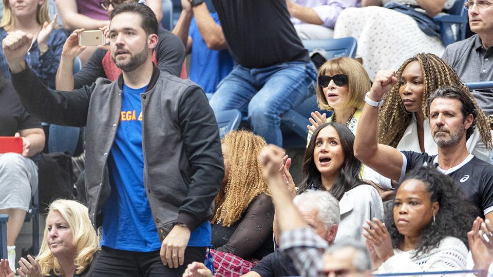 Alexis Ohanian, pictured here cheering on Serena Williams at the 2019 US Open.
