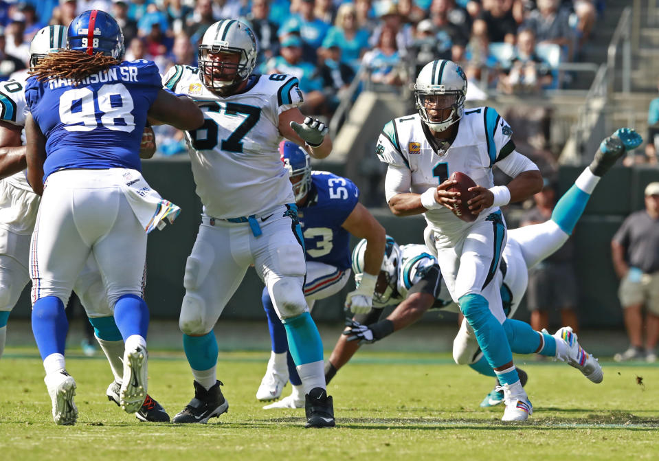 Cam Newton and the Panthers are off to a solid 3-1 start this season. (AP)