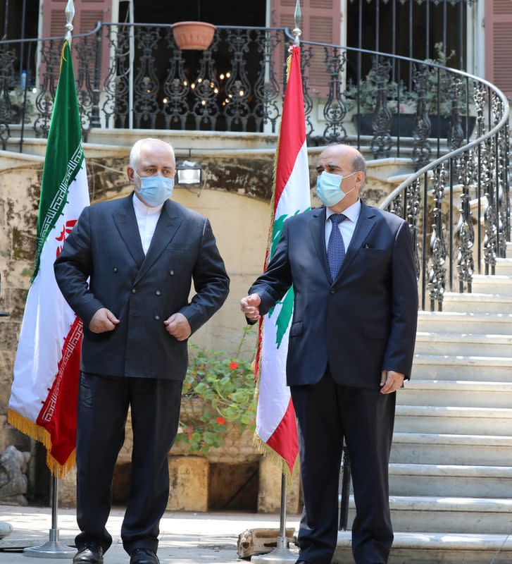 Iran's Foreign Minister Mohammad Javad Zarif visits Lebanon