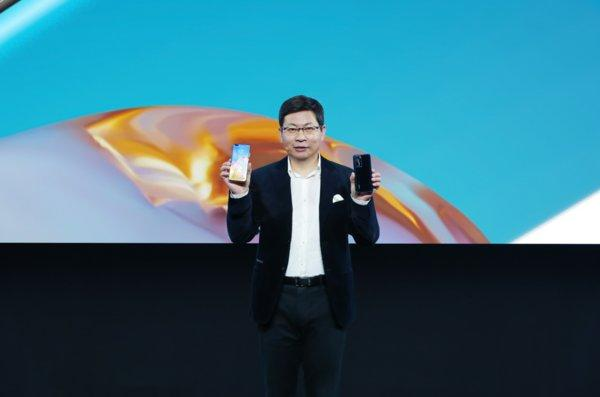 Richard Yu, CEO of Huawei Consumer Business Group introduced HUAWEI P40 Series