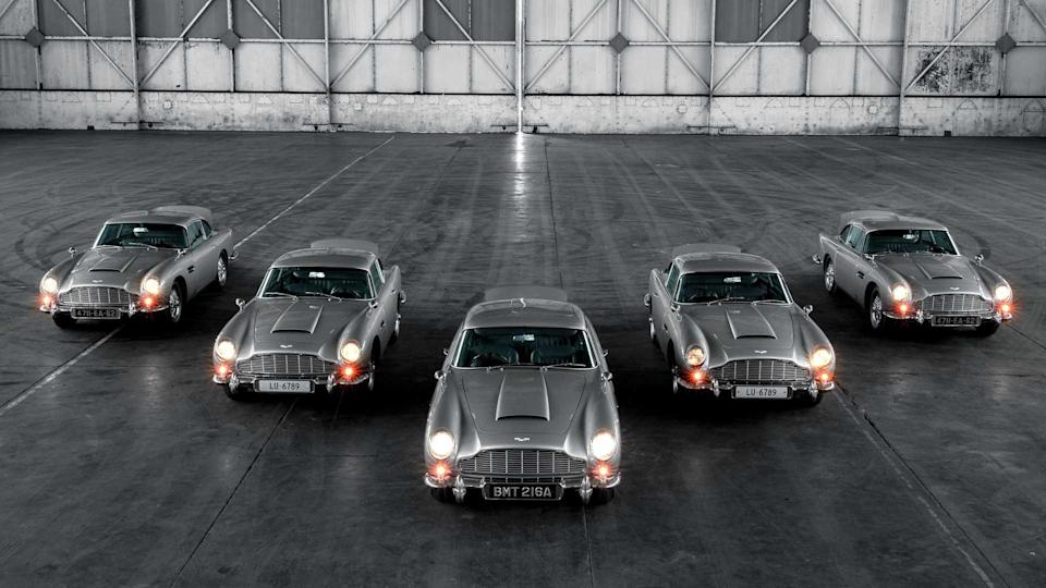 The first five Aston Martin DB5 continuation cars