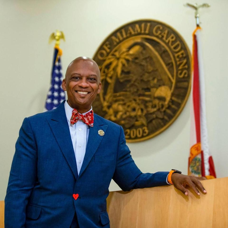 Miami Gardens Mayor Oliver Gilbert at Miami Gardens City Hall, now in his second term.