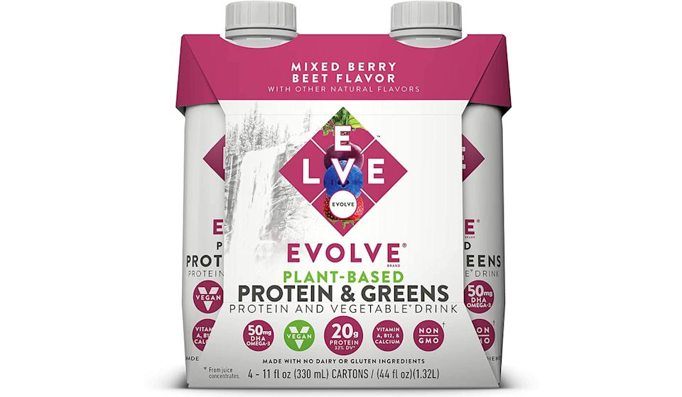 Evolve Plant-Based Protein & Greens- Mixed Berry Beet (Photo: Amazon)