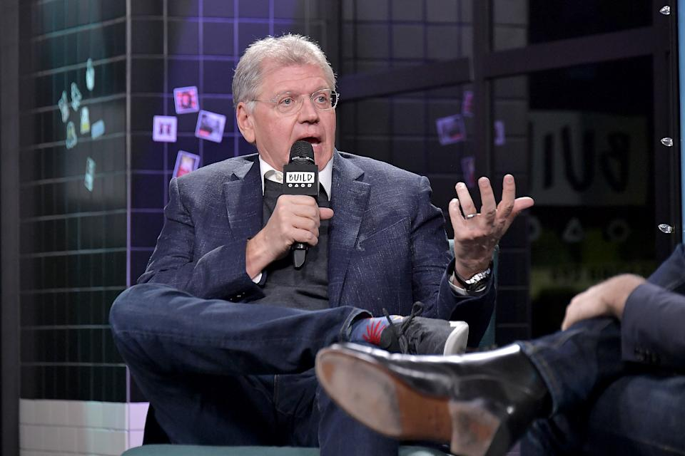 """Robert Zemeckis visits Build to discuss the movie """" Welcome to Marwen"""" on December 19, 2018. (Photo by Michael Loccisano/Getty Images)"""