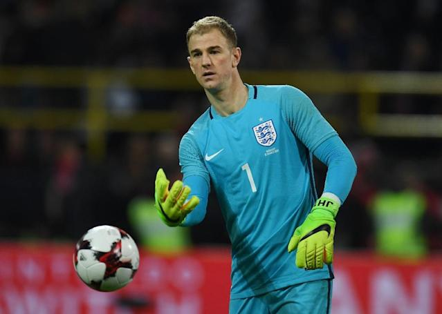 England´s Joe Hart is currently on loan with Serie A side Torino after being banished by City manager Pep Guardiola (AFP Photo/PATRIK STOLLARZ)