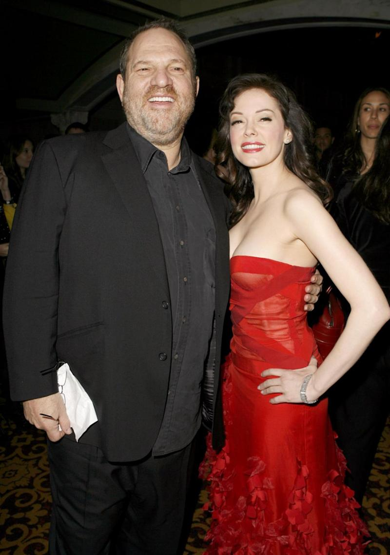 Harvey Weinstein and Rose McGowan during