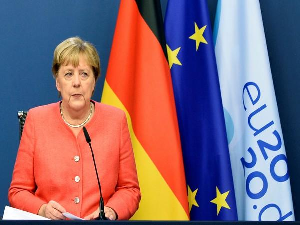 Germany's Chancellor Angela Merkel attends a news conference during the second face-to-face EU summit since the coronavirus disease (COVID-19) outbreak, in Brussels, Belgium October 2.