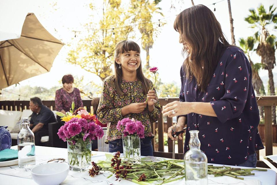 """<p>You don't have to break the bank when gifting mom a beautiful Mother's Day bouquet. Sign up for a virtual bouquet making class and learn, along with Mom, how to create beautiful displays filled with her favorite flowers. As a bonus, the DIY bouquet will double as a gorgeous <a href=""""https://www.womansday.com/food-recipes/g2954/mothers-day-dinner/"""" rel=""""nofollow noopener"""" target=""""_blank"""" data-ylk=""""slk:Mother's Day dinner"""" class=""""link rapid-noclick-resp"""">Mother's Day dinner</a> centerpiece for the table.</p>"""