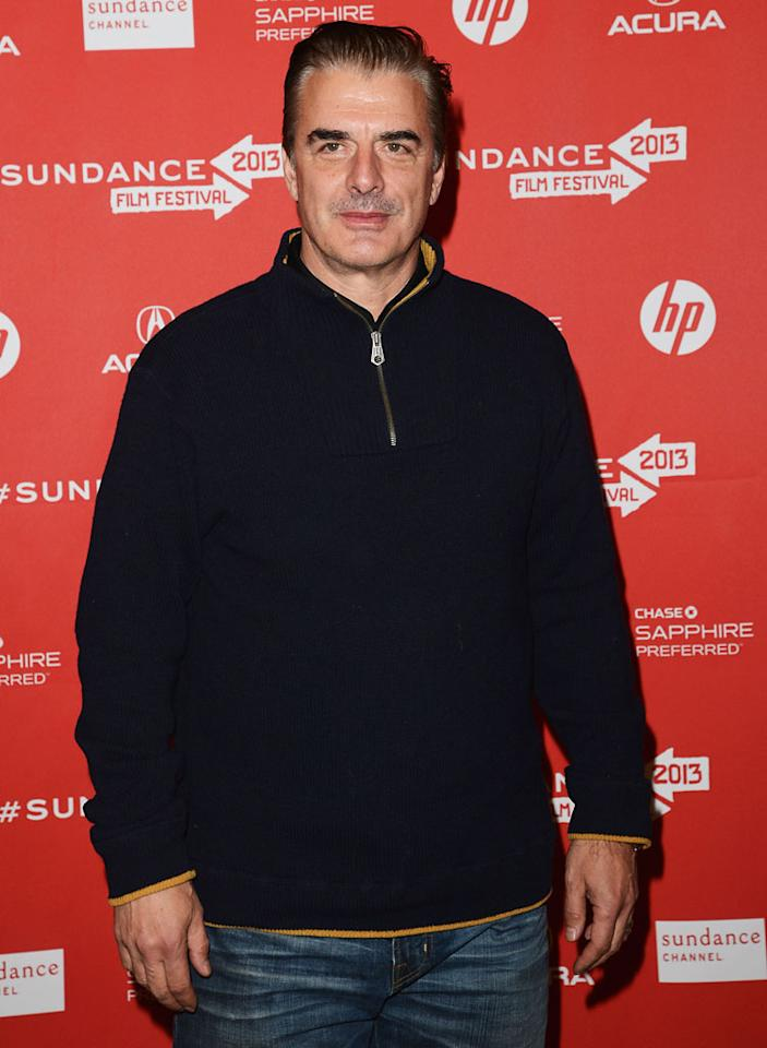 """PARK CITY, UT - JANUARY 22:  Actor Chris Noth attends the """"Lovelace"""" premiere at Eccles Center Theatre during the 2013 Sundance Film Festival on January 22, 2013 in Park City, Utah.  (Photo by Jason Merritt/Getty Images)"""