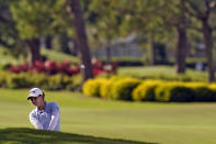 Ally McDonald hits from the rough on the 16th hole during the final round of the LPGA Pelican Women's Championship golf tournament Sunday, Nov. 22, 2020, in Belleair, Fla. (AP Photo/Chris O'Meara)