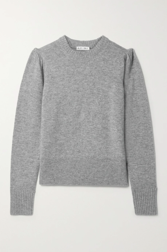 "<br><br><strong>Alex Mill</strong> Claire Merino Wool and Cashmere-Blend Sweater, $, available at <a href=""https://www.net-a-porter.com/en-gb/shop/product/alex-mill/claire-merino-wool-and-cashmere-blend-sweater/1294135"" rel=""nofollow noopener"" target=""_blank"" data-ylk=""slk:Net-A-Porter"" class=""link rapid-noclick-resp"">Net-A-Porter</a>"