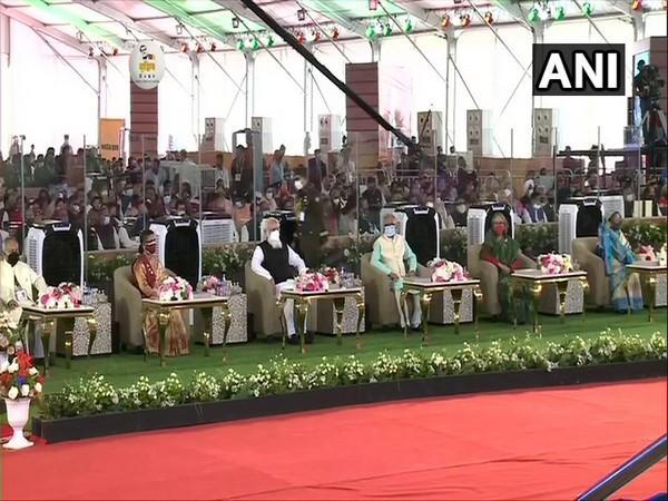 The National Day programme in Bangladesh on Friday. (Photo/ANI)