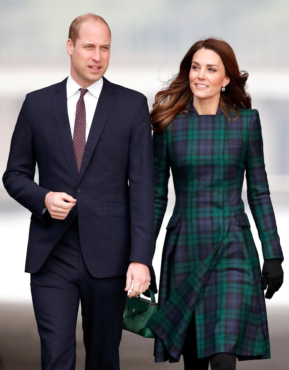 The Duchess of Cambridge was in Dundee yesterday with her husband, Prince William, when a fan in the crowd asked for an update on Prince Louise. Photo: Getty Images