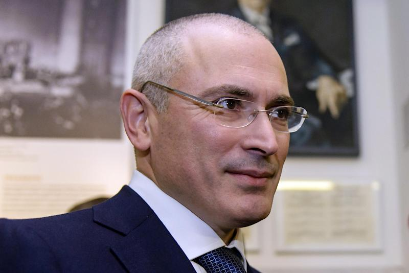 Mikhail Khodorkovsky launched an ambitious movement to unite pro-European Russians in a bid to challenge the Kremlin's grip on power (AFP Photo/Clemens Bilan)